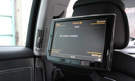 Audi A8 L W12 backseat infotainment (c) Motoring Research