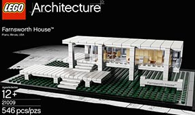 The LEGO Farnsworth House (© The LEGO Group)