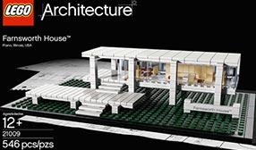 The LEGO Farnsworth House (© The LEGO Group)