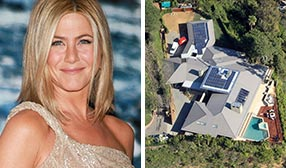 Jennifer Aniston, Aniston's Beverly Hills estate (© Victor Chavez/WireImage, Jason Mitchell/BuzzFoto/FilmMagic)