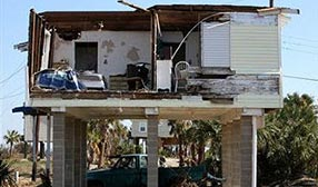 Hurricane-damaged home ( Bob Levey/WireImage)