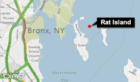 Map showing location of Rat Island (© Microsoft Corporation/NAVTEQ)