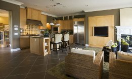 Family room & open kitchen (© Look PhotographyBeat/SuperStock)