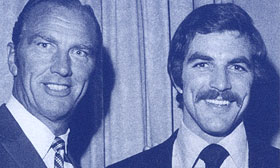 A young Tom Selleck with his father, Bob. © Coldwell Banker Real Estate