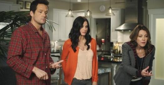 Josh Hopkins, Courteney Cox, Christa Miller