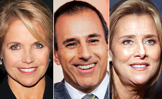 Katie Couric, Matt Lauer and Meredith Vieria/AP