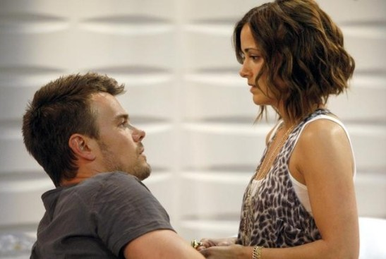 Josh Duhamel & Rebecca Budig - the Leo/Greenlee reunion! (ABC/Rick Rowell)