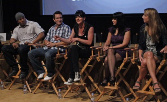 TCA Studio Day with @PauleyP (Pauley Perrette,