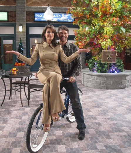 Peter Reckell and Kristian Alfonso ride into Horton Town Square to talk Salem reboot