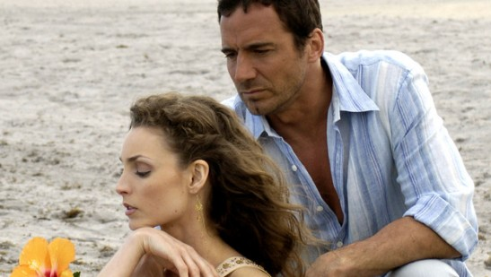 Alicia Minshew (Kendall) and Thorsten Kaye (Zach); courtesy of ABC