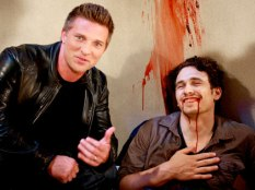 James Franco gives Steve Burton a laugh