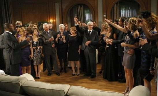 The final Alll My Children party on ABC