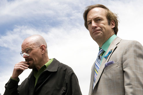 Bryan Cranston, Bob Odenkirk in Breaking Bad (Credit: AMC)