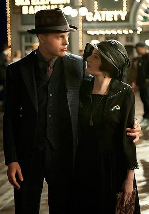 Michael Pitt, Aleksa Palladino (Credit: HBO/Macall B. Polay)