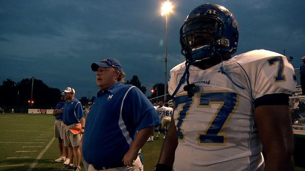 Coach Bill Courtney works the sidelines in the documenatary,