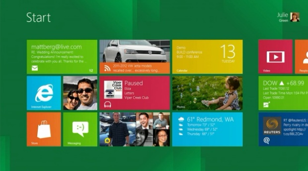 Microsoft preview their Windows 8 Metro interface at their BUILD event in California.
