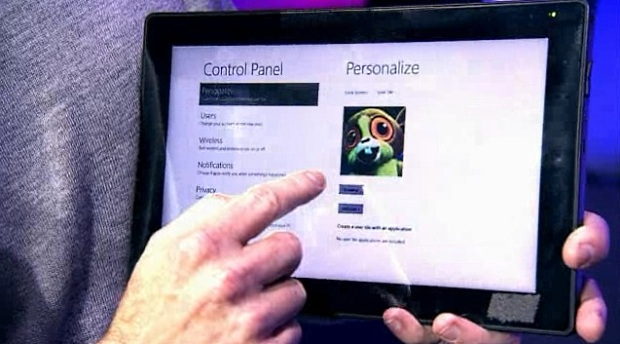 Windows 8 includes support for touch.