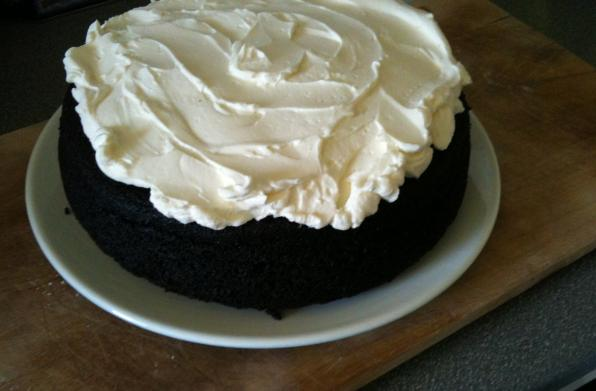 The one cake I can turn out pretty well: Nigella's chocolate Guinness cake.