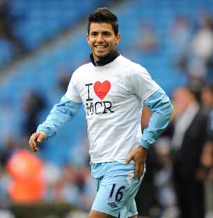Sergio Aguero says he loves Manchester