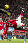 Wayne Rooney scores against Man City