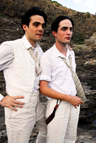 "Robert Pattinson and Javier Beltran in ""Little Ashes"""