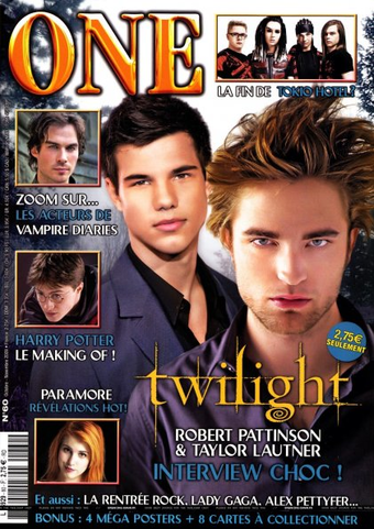 Rob and Taylor in One magazine