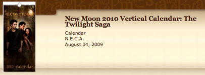 """New Moon"" vertical calendar"