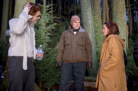 Rob, Chris, and Kristen on the &quot;New Moon&quot; set
