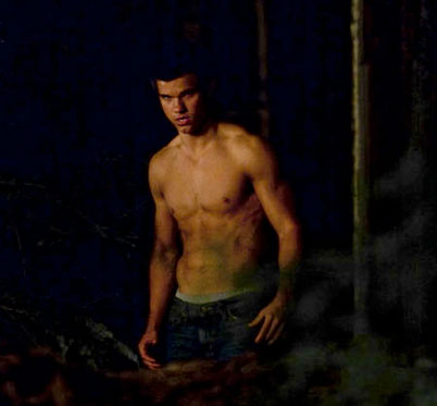 Taylor Lautner on the set of &quot;New Moon&quot;