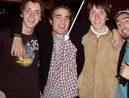 "Rob with the Phelps brothers and one of the Durmstrang dudes from ""Goblet of Fire"""