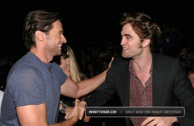 Hugh Jackman and Rob at the TCAs