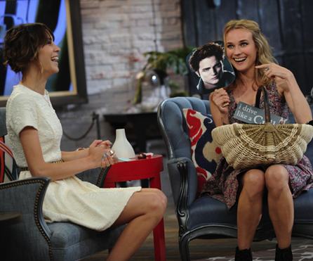 Diane Kruger with Alexa Chung, getting her Edward fan on