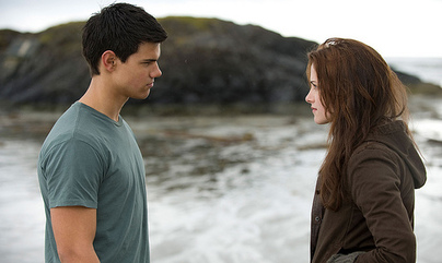 Jacob and Bella in &quot;New Moon&quot;