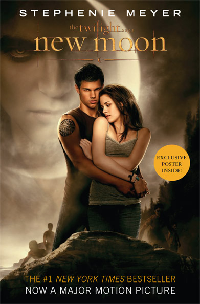"""New Moon"" movie book cover"