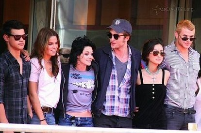 Some of the &quot;Twilight&quot; cast at Comic-Con 2009.