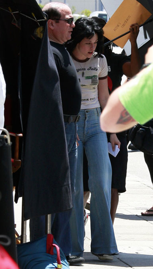 "Kristen Stewart on ""The Runaways"" set"