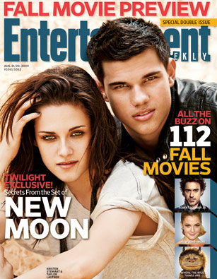 Kristen Stewart and Taylor Lautner on EW cover
