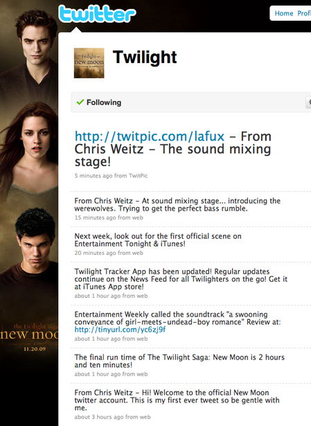 Twilight on Twitter!