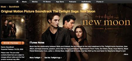 """New Moon"" soundtrack on iTunes"