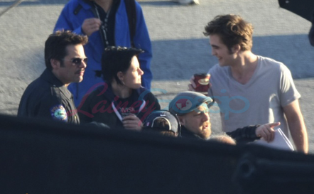 "Rob filming ""Eclipse"""