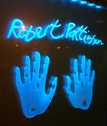 Rob's handprints at Planet Hollywood Times Square